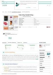 Generic Cialis 20mg - Tadalafil 20mg 100% Quality ✓50% Off ✓Shop Now!