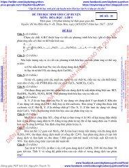 Tập 26 đề thi học sinh giỏi cấp huyện + tỉnh môn Hóa học lớp 9 (có đáp án chi tiết)
