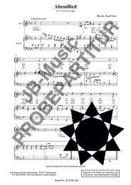 Abendlied  (für Sopran- oder Tenor- Solostimme m. Klavierbegl.)