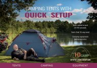 Camping tents with quick setup