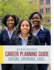2019.2020 NCCU Career Planning Guide