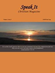 Speak It Christian Magazine Issue 3