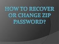 how to recover zip password