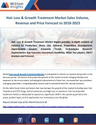 Hair Loss & Growth Treatment Market Sales Volume, Revenue and Price Forecast to 2018-2023
