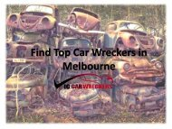 Find Top Car Wreckers in Melbourne
