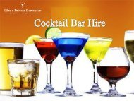 Best Cocktail Bar Hire in London – Hire a Private Bartender