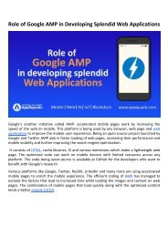Role of Google AMP in Developing Splendid Web Applications