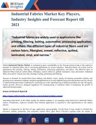 Industrial Fabrics Market Key Players, Industry Insights and Forecast Report till 2021