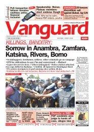 08042019 - KILLINGS, BANDITRY: Sorrow in Anambra, Zamfara, Katsina, Rivers, Borno