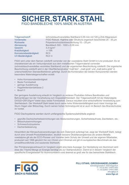 FIGO Highline Produktinfo AT