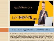 Norton Antivirus Installation Technical Support Number +1-844-947-4746 (toll-free)