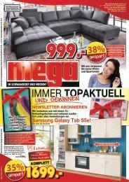 Immer topaktuell - Gewinnspiel - mega Möbel in Schwandorf und Weiden