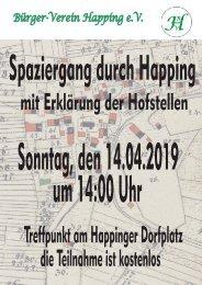 Plakat Osterspaziergang