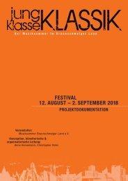 jung | klasse | KLASSIK - Der Musiksommer im Braunschweiger Land - Projektdoku 2018