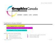 Les parcours par sujets Graphics Canada 2019