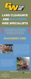 Machinery Hire Cheshire