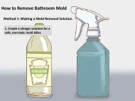 How to Remove Mold from Bathroom