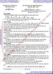 TỔNG HỢP ĐỀ THI HSG HÓA HỌC LỚP 12, LỚP 9 CÓ GIẢI CHI TIẾT TỈNH KIÊN GIANG