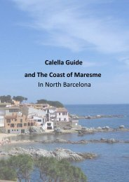 North Coast of Barcelona the maresme  and Calella