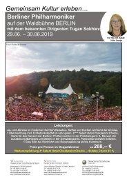 Berliner Philharmoniker auf der Waldbühne Berlin vom 29.-30.06.2019