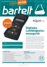 Bartelt Aqualab Ionenaustauscher Aktion 2019