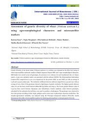 Assessment of genetic diversity of wheat (Triticum aestivum L.) using agro-morphological characters and microsatellite markers