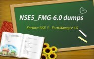 Fortinet NSE5_FMG-6.0 exam dumps