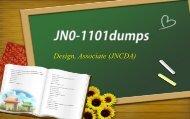 Juniper JNCDA JN0-1101 dumps