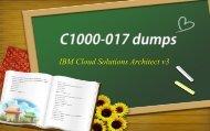 IBM Cloud C1000-017 dumps