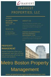 Metro Boston Property Management - Harvest Properties