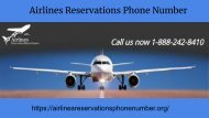 airline reservations phone number
