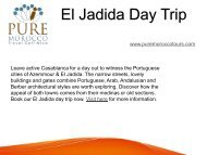 Best El Jadida Day Trip with Pure Morocco