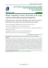Floristic composition, structure and diversity of the woody vegetation of Deux Balé national park, Burkina Faso