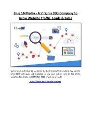Blue 16 Media - A Virginia SEO Company to Grow Website Traffic, Leads & Sales