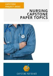 Nursing Capstone Paper Topics