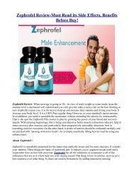 How does Zephrofel Male Enhancement Work?