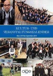 Kulturprogramm der Kreisstadt Olpe - März bis September 2019
