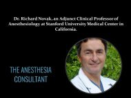 Richard Novak MD - The Anesthesia Consultant