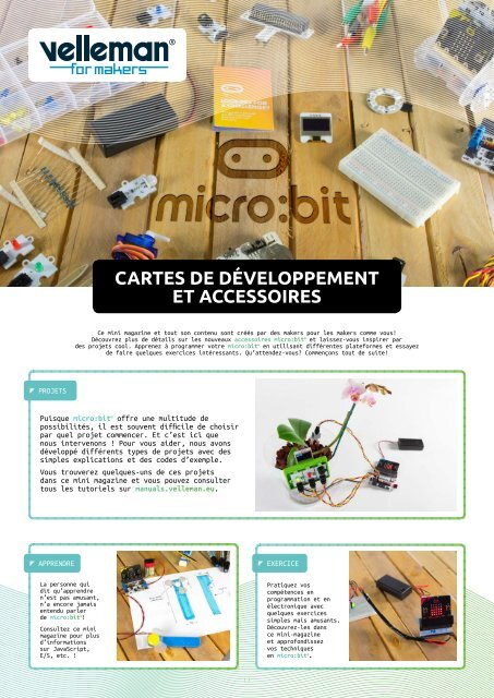 Velleman for Makers - micro:bit - FR