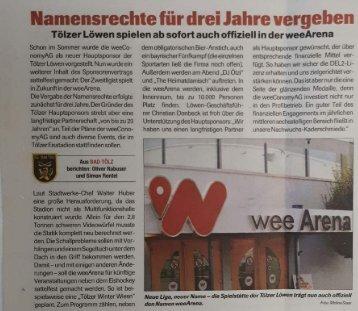 19.09.17 Eishockey News weeArena