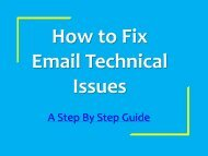 How To Fix Email Technical Problems Support Number 1877-503-0107