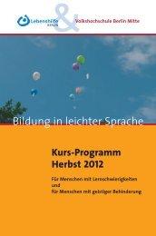 Bildung in leichter Sprache - Lebenshilfe Berlin