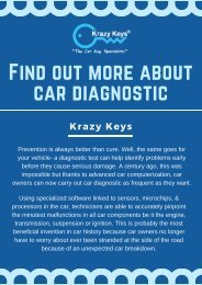 Benefits of a Car Diagnostic Test - Krazy Keys