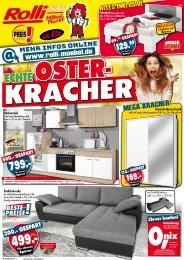 Echte Osterkracher bei Rolli SB-Möbelmarkt in 65604 Elz/Limburg