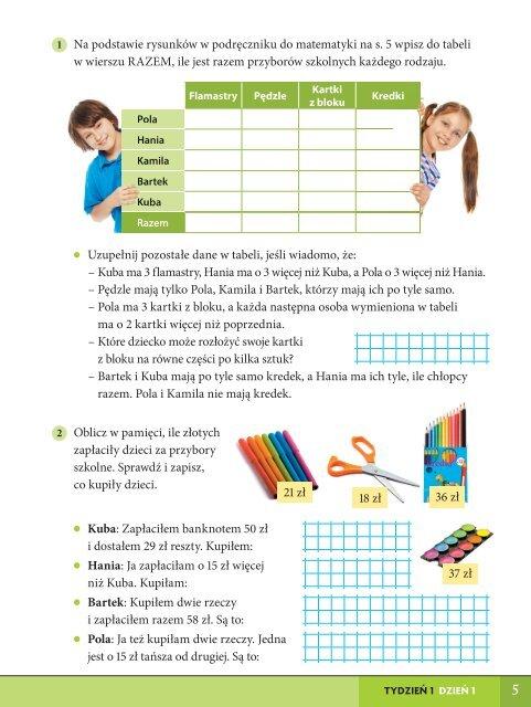 Szkolni Przyjaciele. Matematyka. Karty ćwiczeń klasa 3, część 1