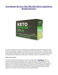 The Potential Benefits Of Keto Booster