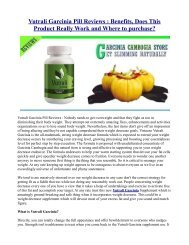 Vutrali Garcinia Pill Reviews : Benefits, Does This Product Really Work and Where to purchase?