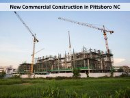 New Commercial Construction in Pittsboro NC