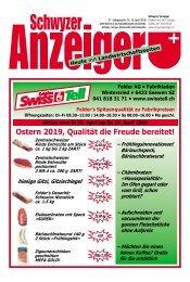 Schwyzer Anzeiger – Woche 15 – 12. April 2019
