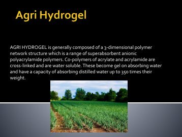 Agri Hydrogel ppt-converted